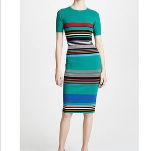 Diane Von Furstenberg Striped Sweater Dress